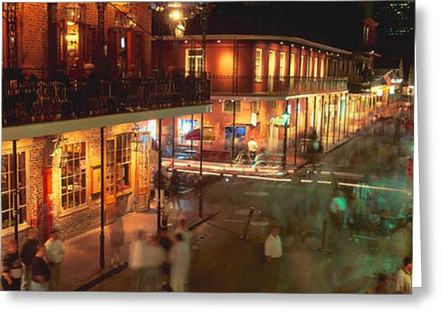 Bourbon Street, French Quarter, New Greeting Card by Panoramic Images