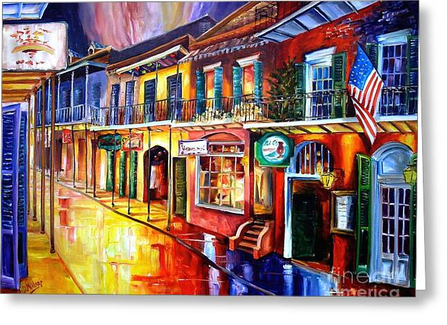 Bourbon Street Red Greeting Card