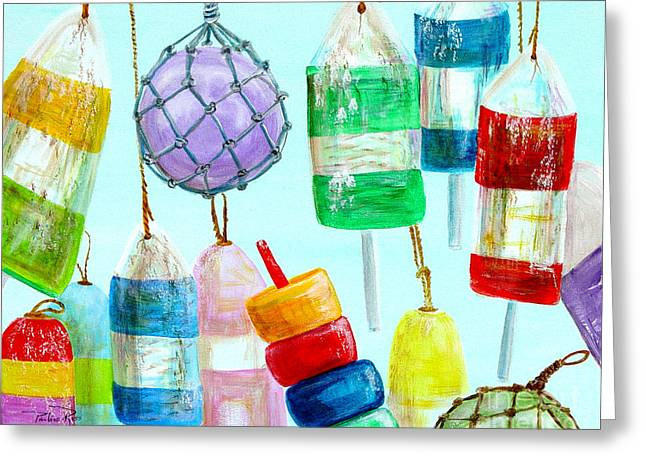 Bouys Iv Greeting Card by Pauline Ross