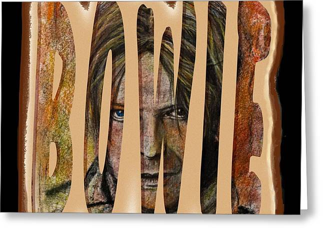 Bowie Greeting Card by Tricia Winwood