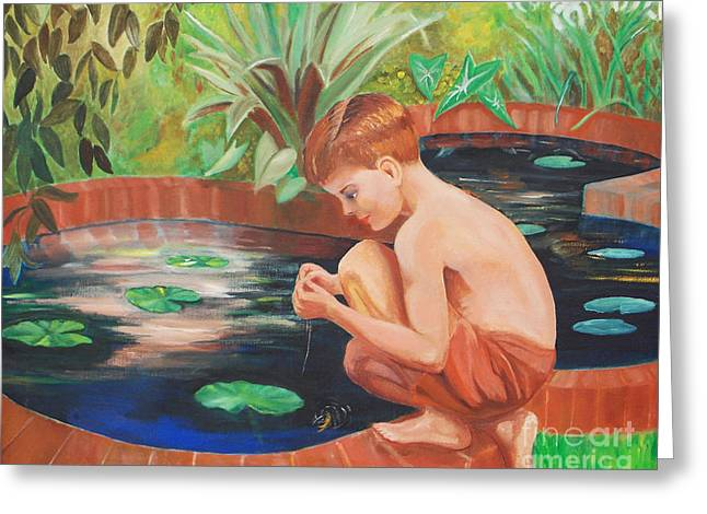 Boy Fishing Greeting Card