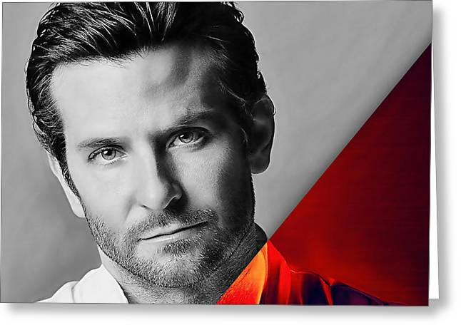 Bradley Cooper Collection Greeting Card by Marvin Blaine