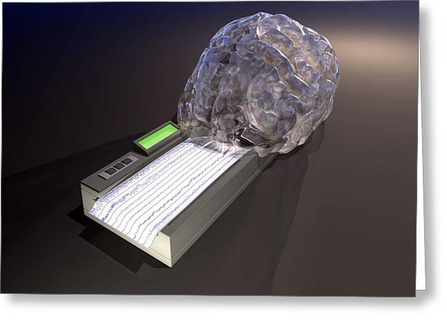 Brain Function, Conceptual Artwork Greeting Card