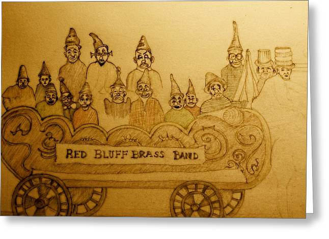 Brass Band Greeting Card by Lee M Plate