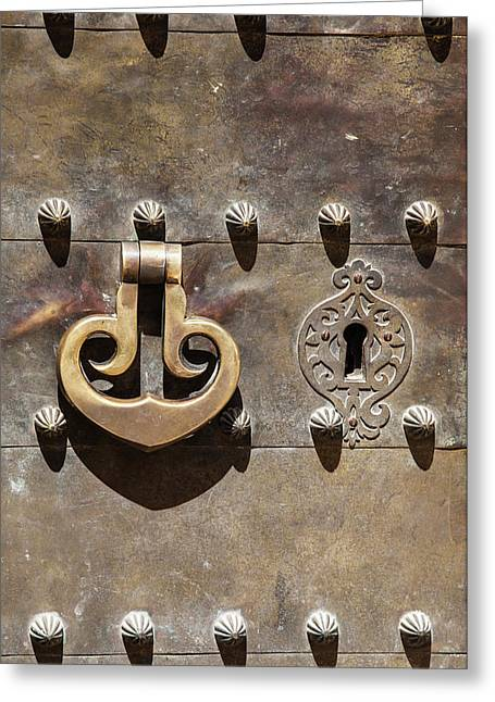 Brass Door Knocker Greeting Card