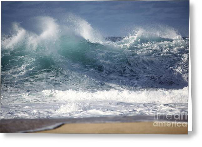 Breaking Wave Greeting Card by Vince Cavataio - Printscapes