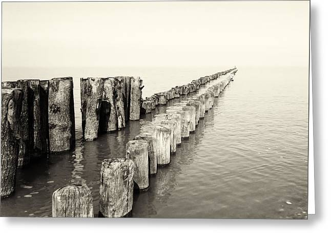 Breakwaters Greeting Card by Wim Lanclus