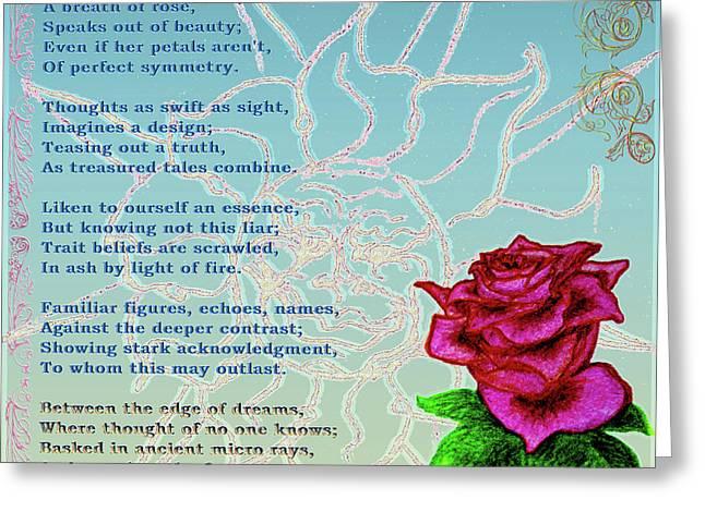 Breath Of Rose 2 Greeting Card