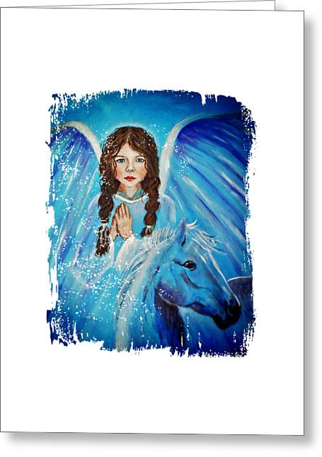 Brianna Little Angel Of Strength And Courage Greeting Card by The Art With A Heart By Charlotte Phillips