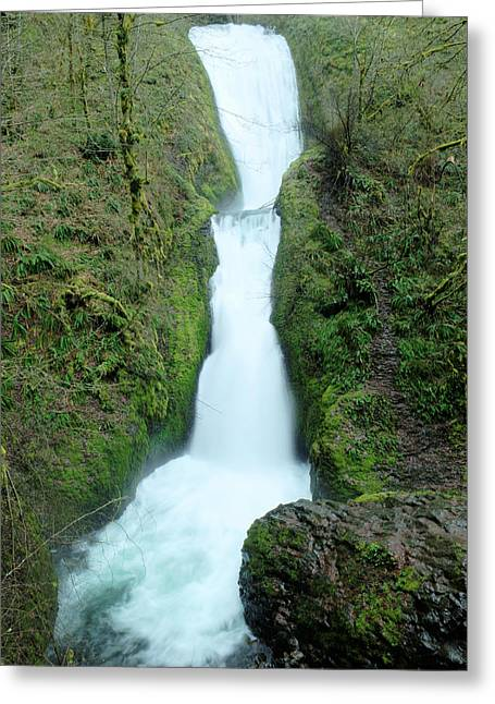 Greeting Card featuring the photograph Bridal Veil Falls by Jeff Swan