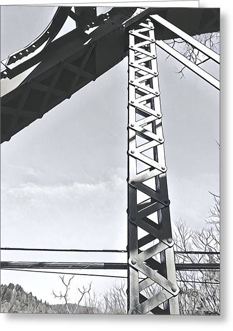 Bridge At Guerneville Greeting Card