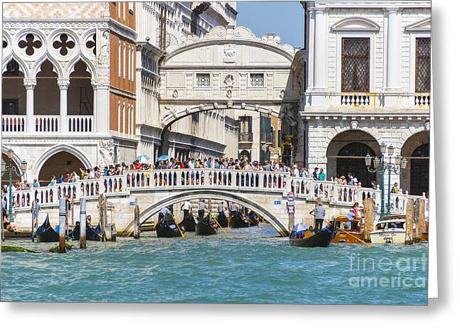 Bridge Of Sighs Greeting Card by Svetlana Sewell
