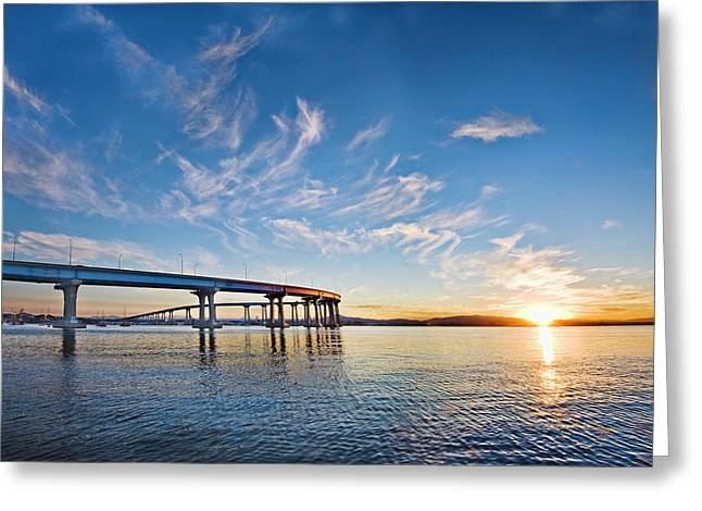 Bridge Sunrise Greeting Card