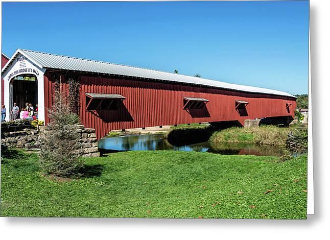 Bridgeton Covered Bridge Greeting Card by Denny Riffert