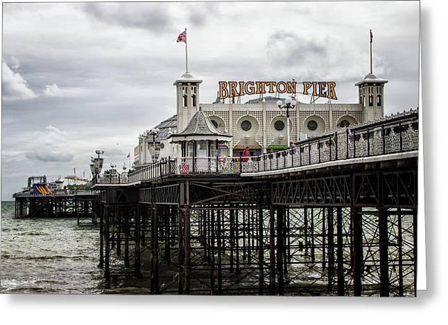 Brighton Pier Greeting Card by Martin Newman