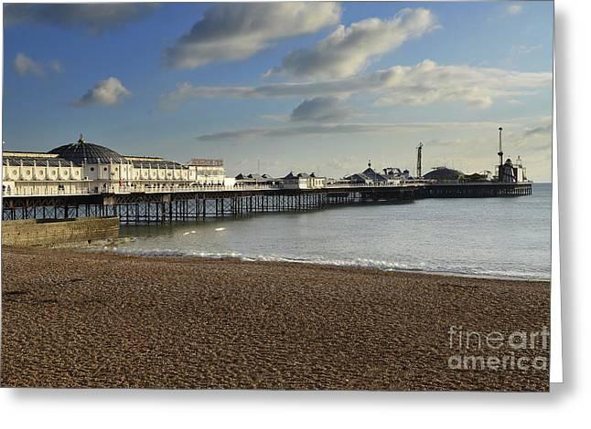 Brighton Pier Greeting Card by Nichola Denny