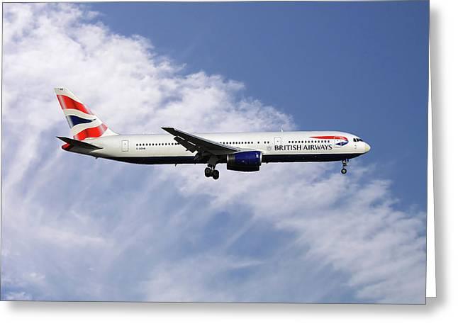 British Airways Boeing 767-336 Greeting Card