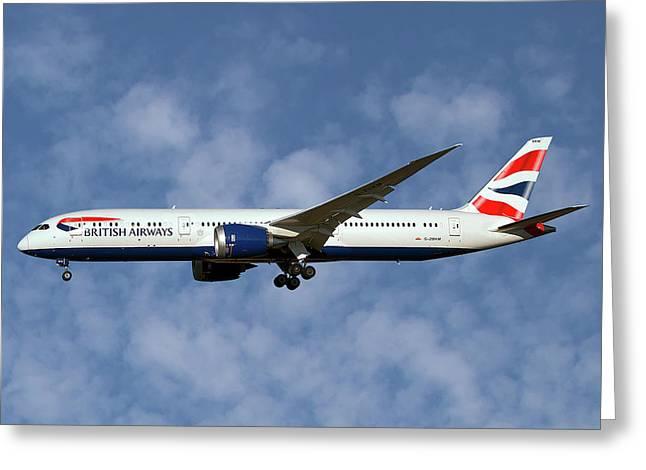 British Airways Boeing 787-9 Dreamliner Greeting Card