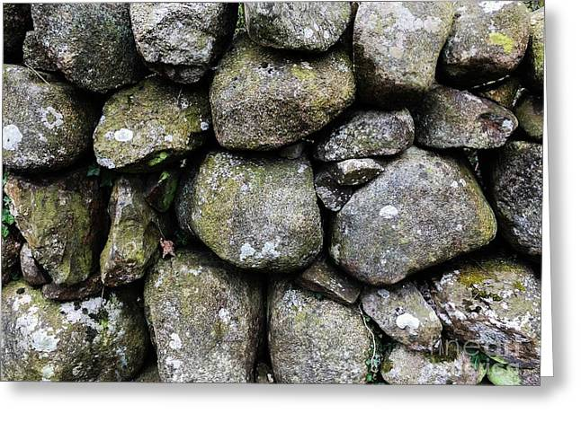 British Dry Stone Wall, Photo By Mary Bassett Greeting Card by Mary Bassett