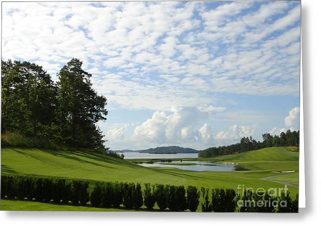 Bro Hof Slott Golf Club Sweden Greeting Card