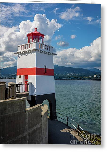 Brockton Point Lighthouse Greeting Card