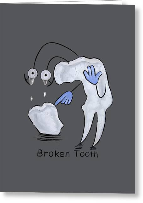 Broken Tooth  Greeting Card by Anthony Falbo
