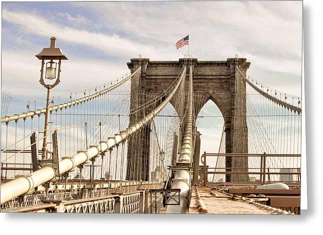 Brooklyn Bridge I Greeting Card