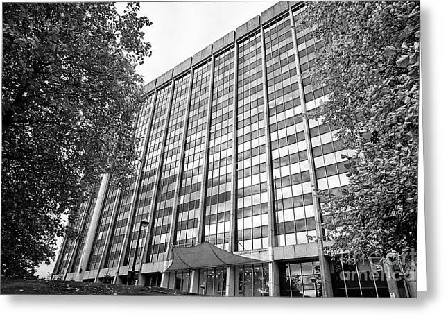brunel house office building home to hmrc amongst others Cardiff Wales United Kingdom Greeting Card