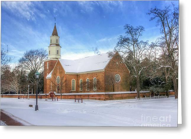 Bruton Parish In Winter II Greeting Card