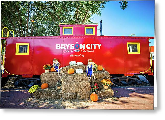 Bryson City, Nc October 23, 2016 - Great Smoky Mountains Train R Greeting Card