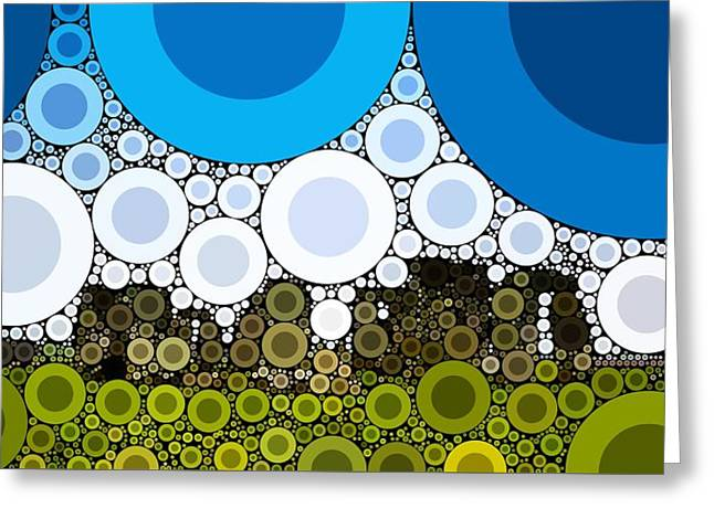 Bubble Art Stonehenge Greeting Card