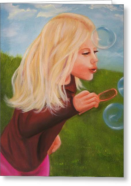 Bubbles Greeting Card by Joni McPherson