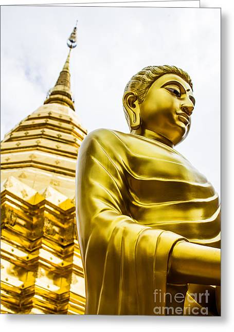 Buddha Image Greeting Card by Honey Bee