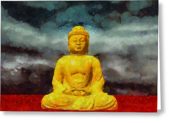 Buddha Greeting Card by Esoterica Art Agency