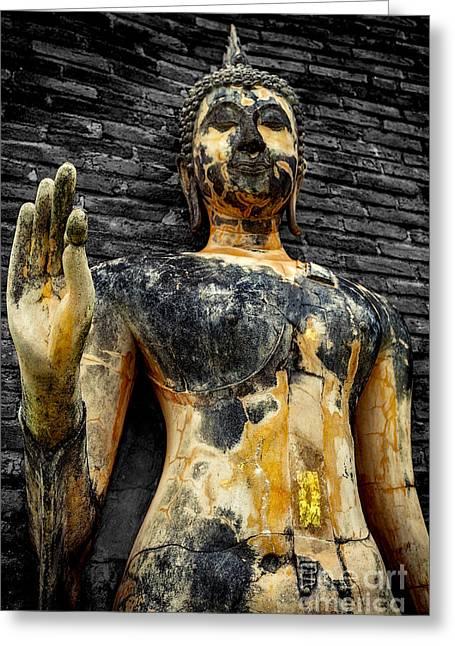 Buddha Statue  Greeting Card by Adrian Evans