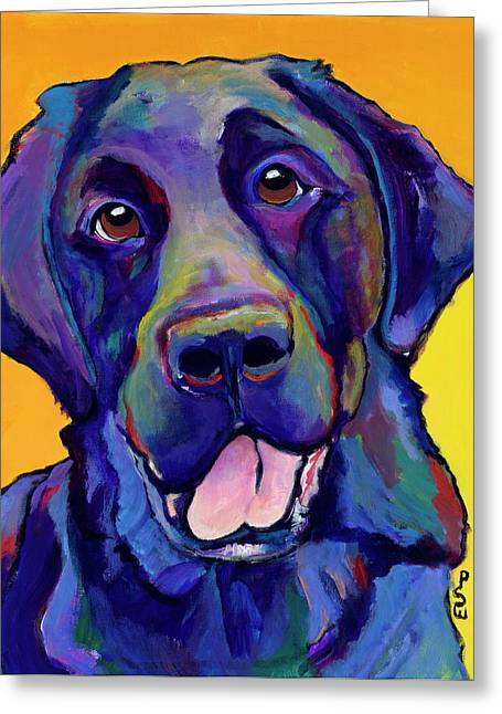 Dog Prints Greeting Cards - Buddy Greeting Card by Pat Saunders-White