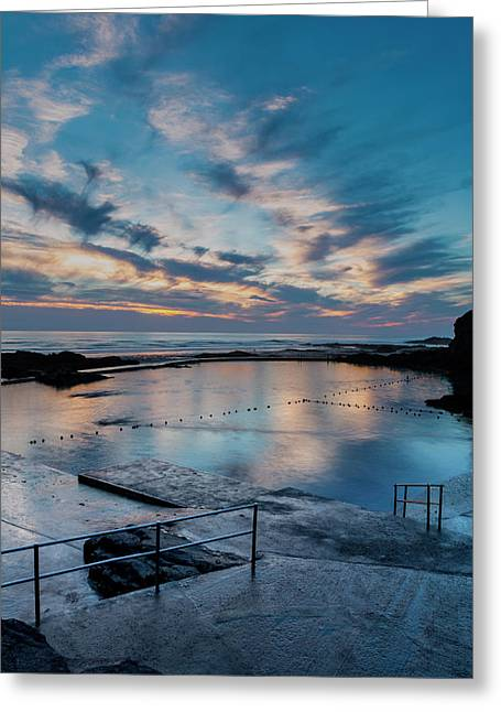 Bude Seapool Cornwall Greeting Card