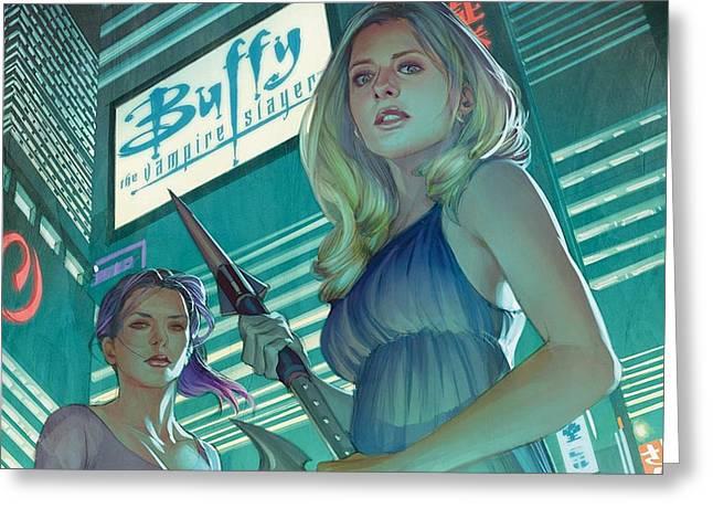 Buffy The Vampire Slayer Greeting Cards Fine Art America