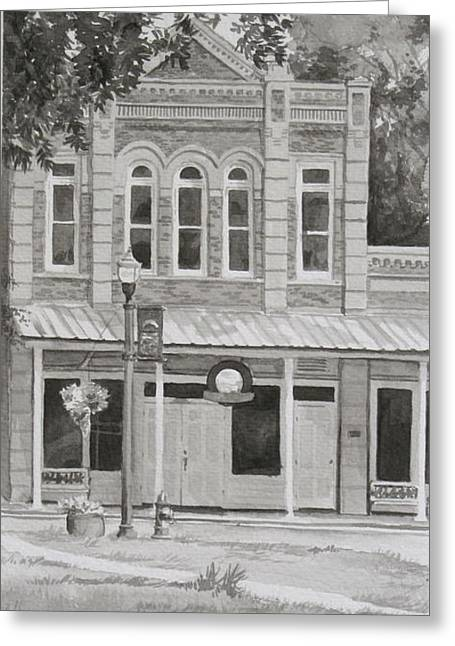 Building On The Square Greeting Card by Karen Boudreaux