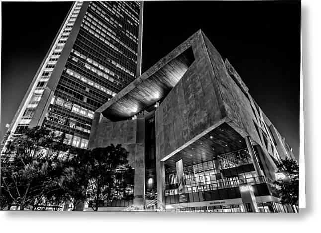 Buildings And Architecture Around Mint Museum In Charlotte North Greeting Card by Alex Grichenko