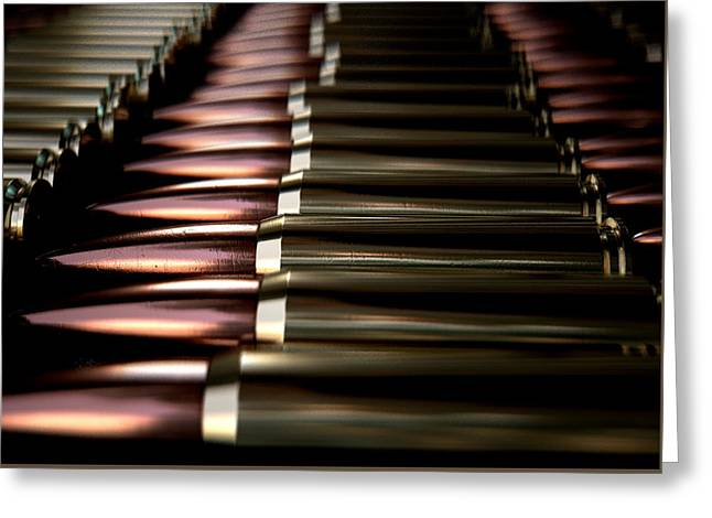 Bullet Array Greeting Card by Allan Swart