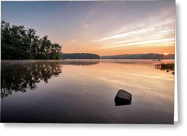 Burke Lake Reflection Greeting Card by Michael Donahue