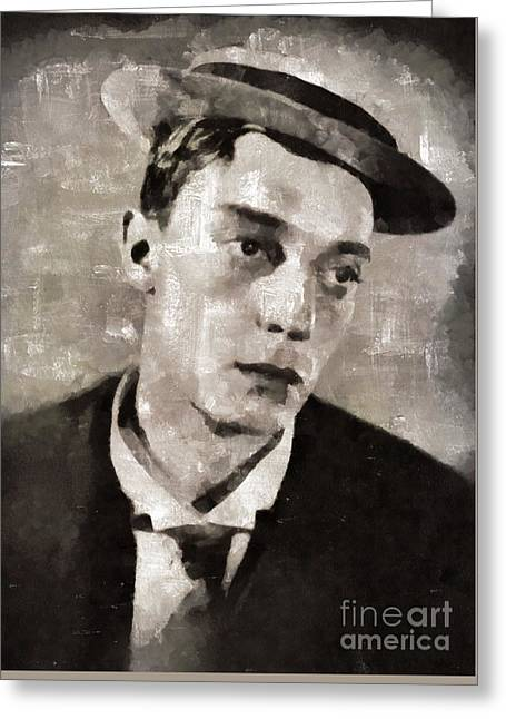 Buster Keaton, Actor Greeting Card