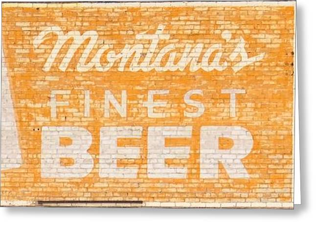 Butte Special Beer Ghost Sign Greeting Card