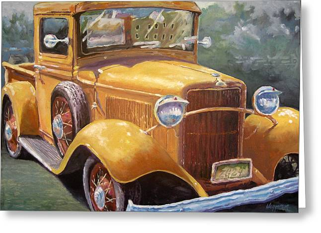 32 Ford Truck Greeting Cards - Butter Greeting Card by Georgeann Waggaman