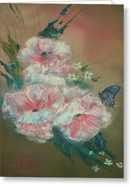 Greeting Card featuring the painting Butterfly Beauty by Raymond Doward