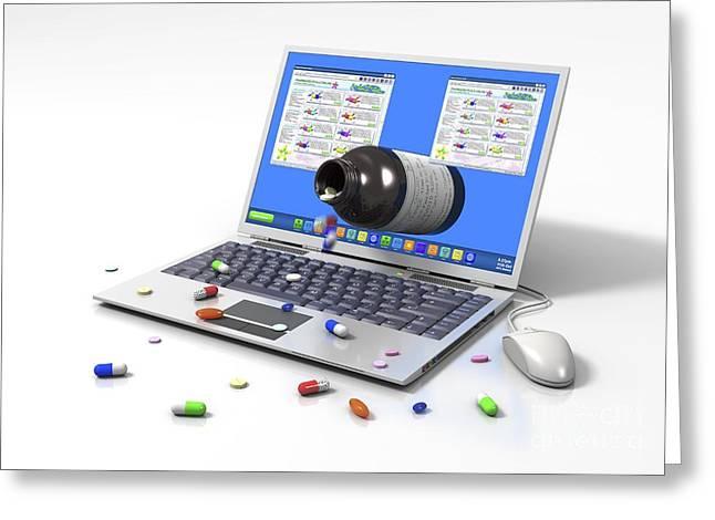 Buying Medicines Online, Image Greeting Card