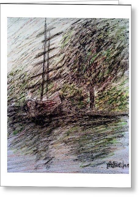 By The Lake Greeting Card by Aida Behani