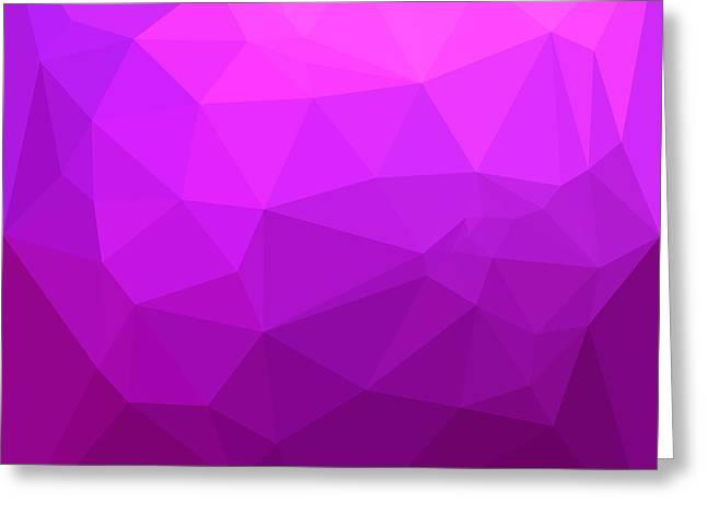 Byzantine Purple Abstract Low Polygon Background Greeting Card by Aloysius Patrimonio