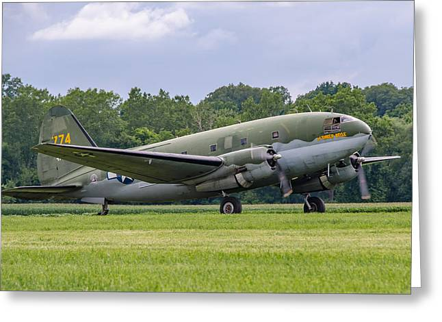 C-46 Commando Tinker Belle Greeting Card